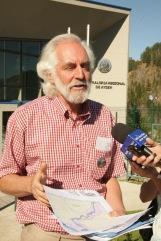 Coordinador de la Coalición Ciudadana Aysén Reserva de Vida, Peter Hartmann.