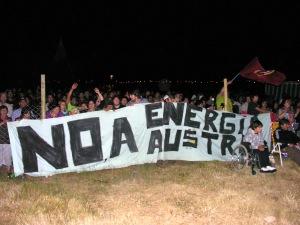 En concierto de Illapu en Puerto Aysén.